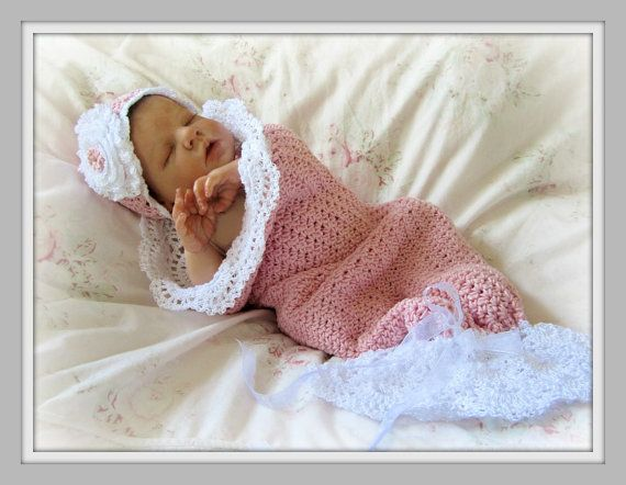 Crochet Baby Cocoon and Hat Pattern Photo Prop by CielosCloset ...