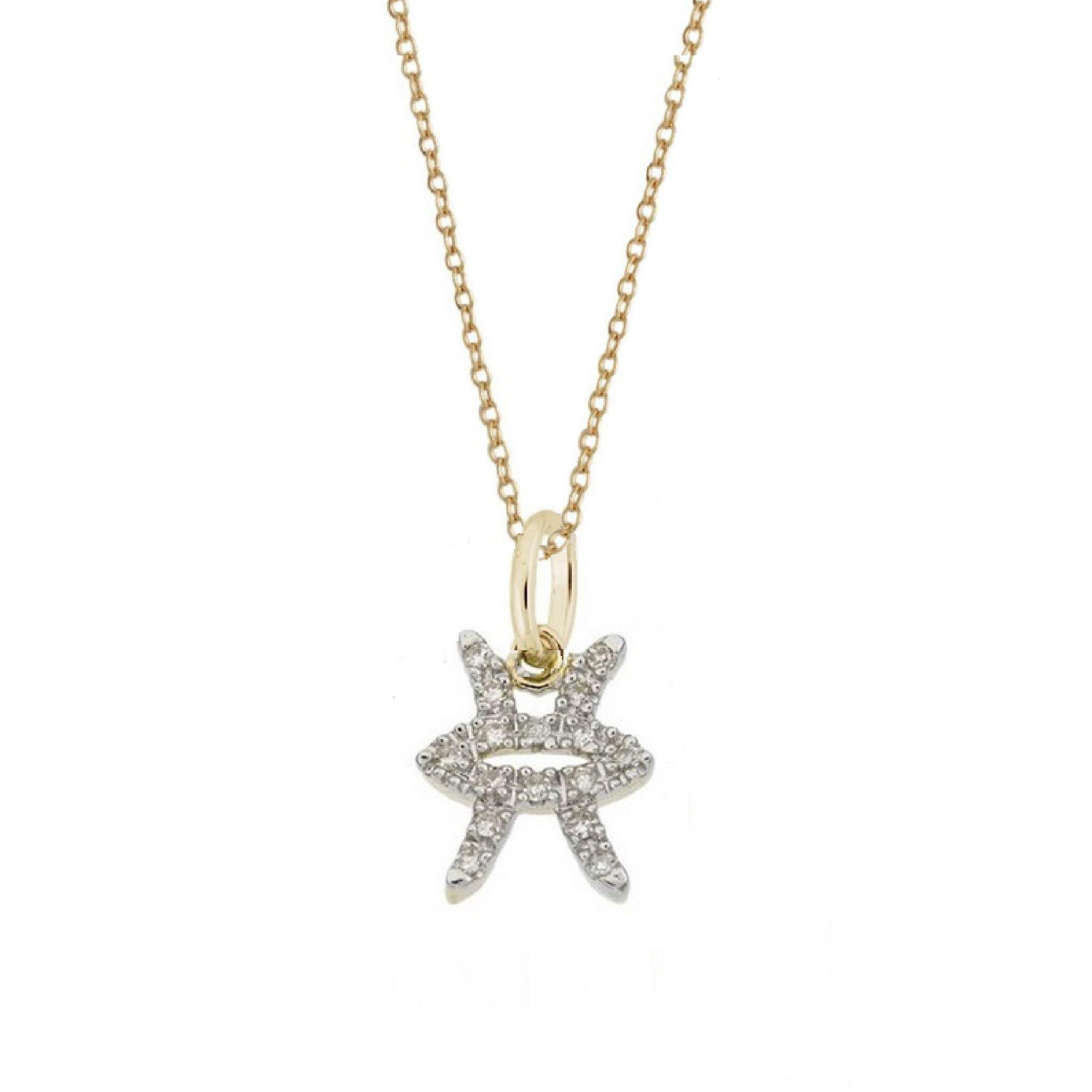Pisces diamond zodiac charm necklace pisces pinterest