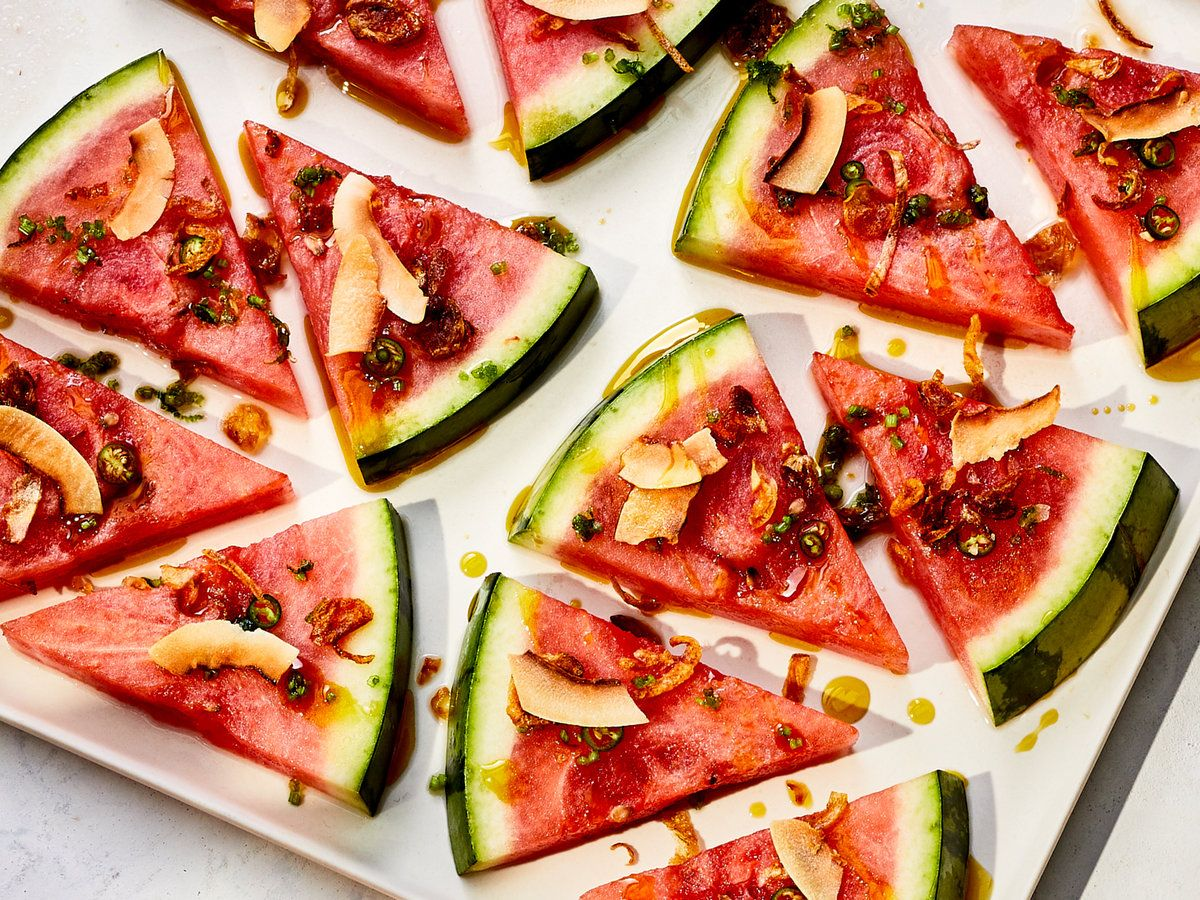 Chile Coconut Watermelon Crudo Recipe Recipe In 2020 Wine Recipes Recipes Food