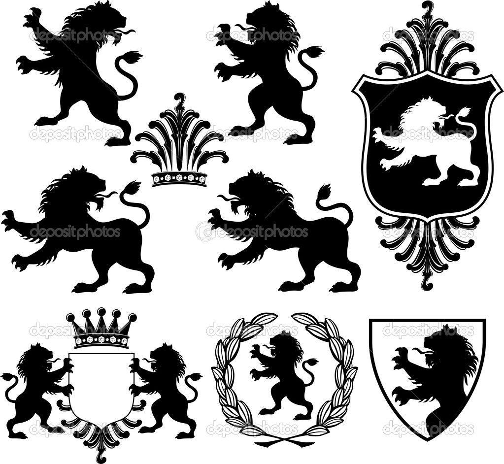 depositphotos_7369664-Heraldry-lion-emblem.jpg (1023×942 ...