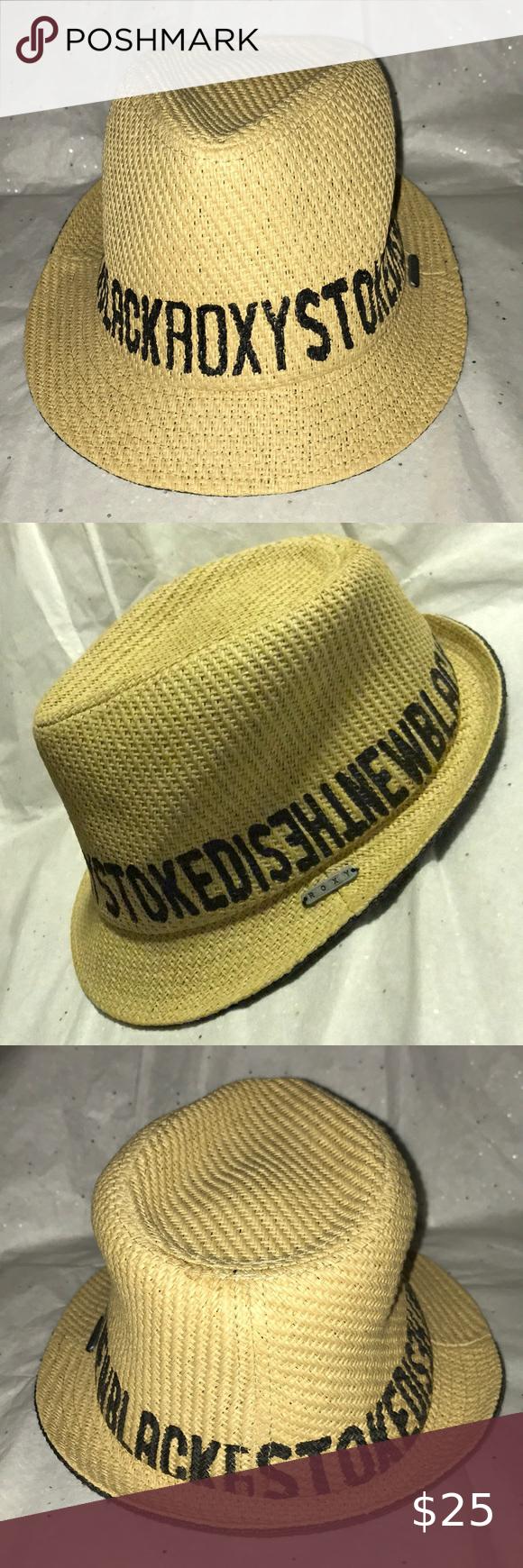 Roxy Stoked Straw Trilby Hat In 2020 Hats Roxy Trilby Hat