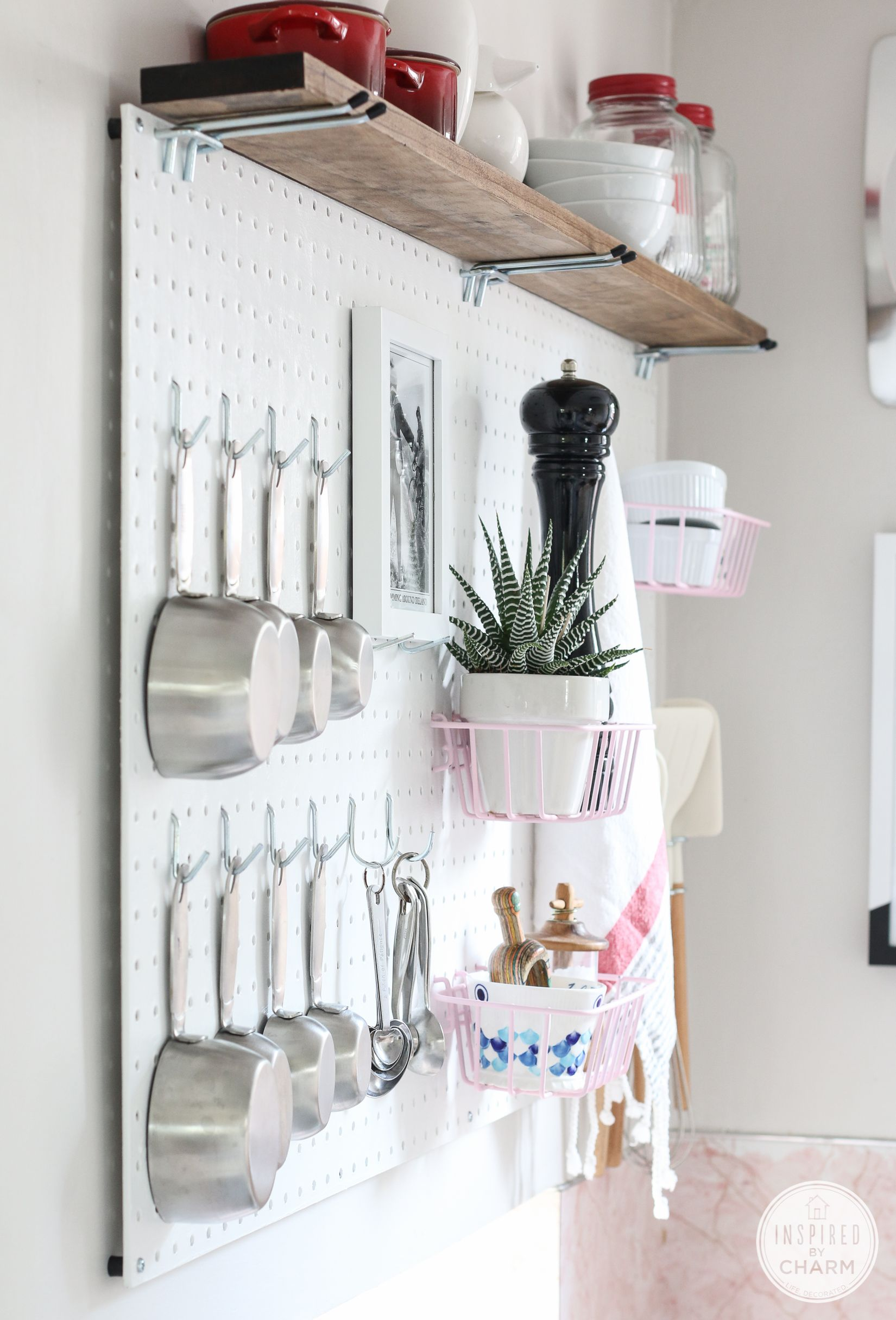beautiful Using Pegboard In Kitchen Part - 1: DIY: pegboard kitchen storage