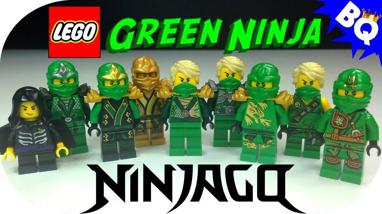 LEGO Ninjago Green Ninja Lloyd Minifigure Comparison Collection ...