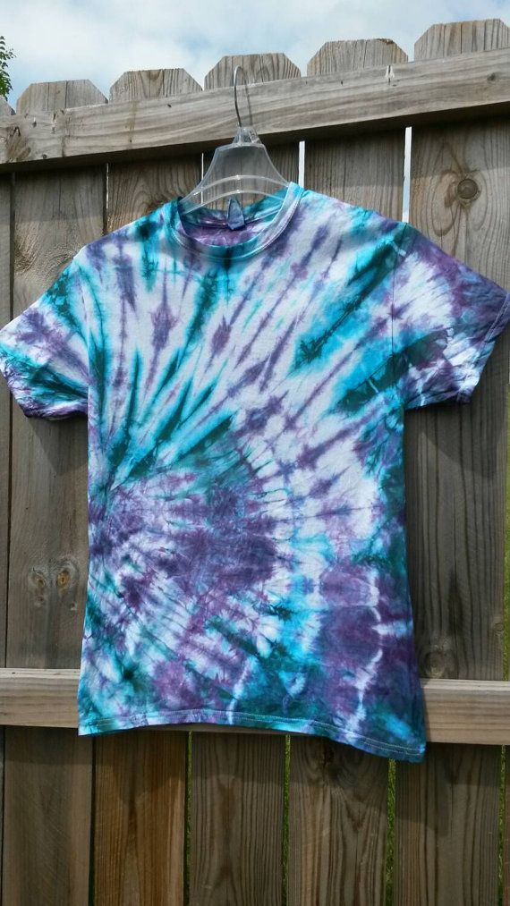 a98038a72f8b9 Tie Dye Shirt Teal and Purple Tie Dye Shirt by MessyMommasTieDyes ...