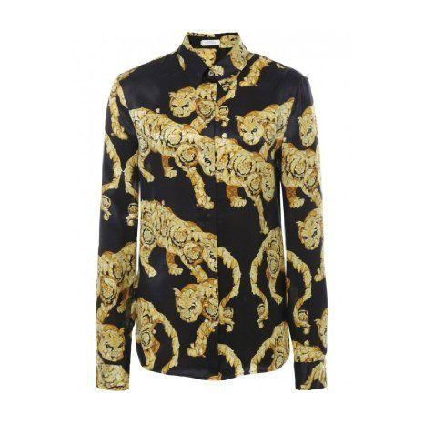 86cbaede Amazon.com: Versace Women's Wild Baroque Silk Shirt: Clothing ...