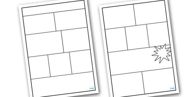 Comic Book Templates Comics Pinterest Literacy, Primary - free book template for word
