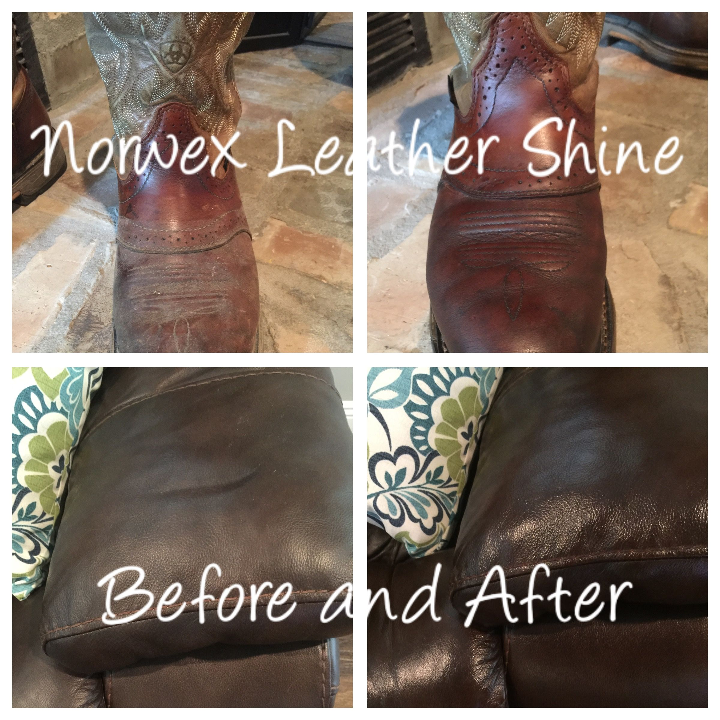 Norwex Leather Shine! Did a great job on the couch and