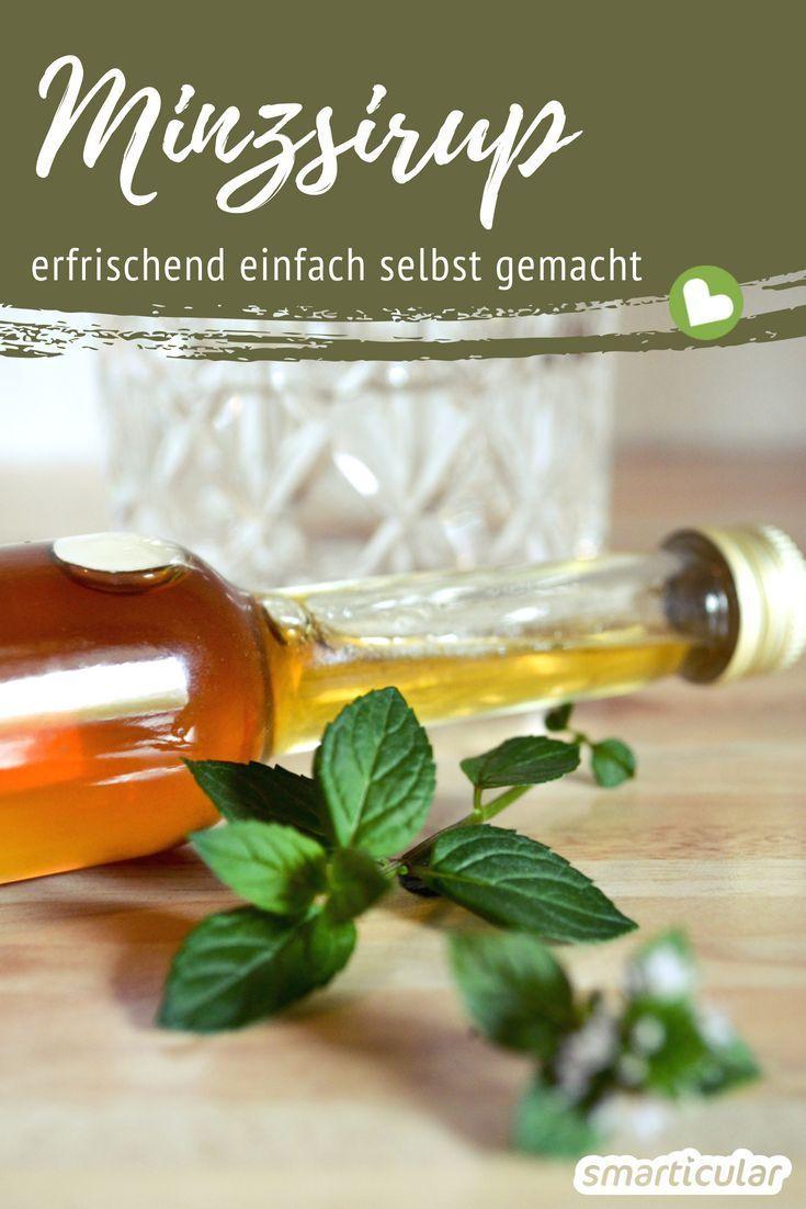 Minze zu aromatischem Minzsirup verarbeiten - so geht's #nonalcoholicsummerdrinks