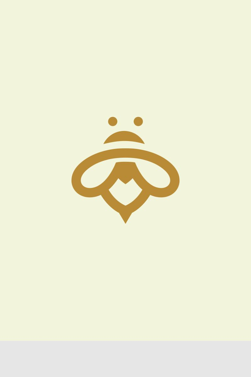 Minimalist Bee Logo Template #67765 (With images) | Logo ...