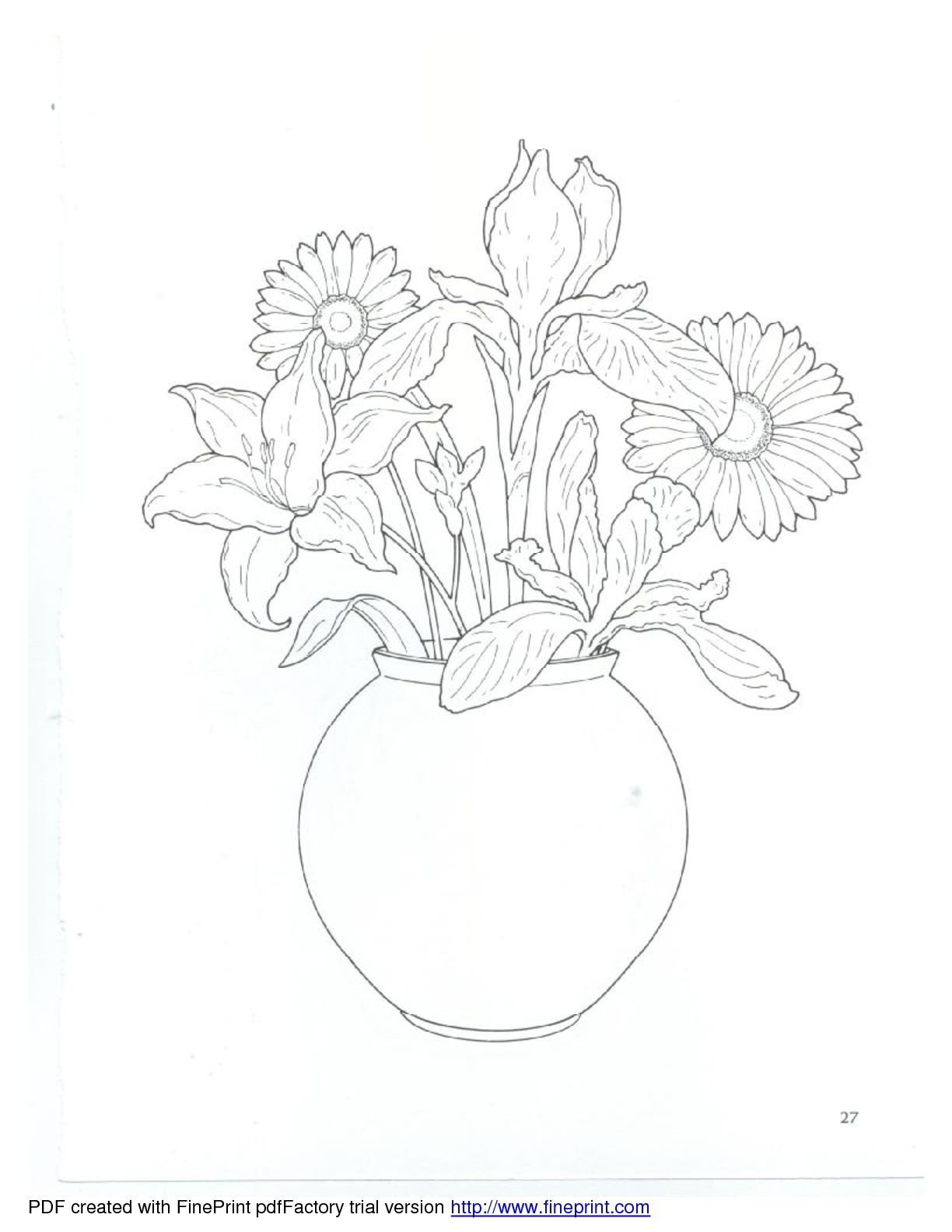 Dover - Floral Bouquets Coloring Book | boyama | Pinterest ...