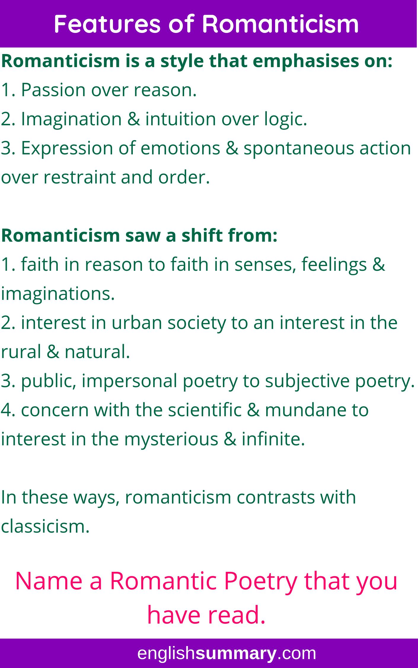 Romantic Movement In English Literature