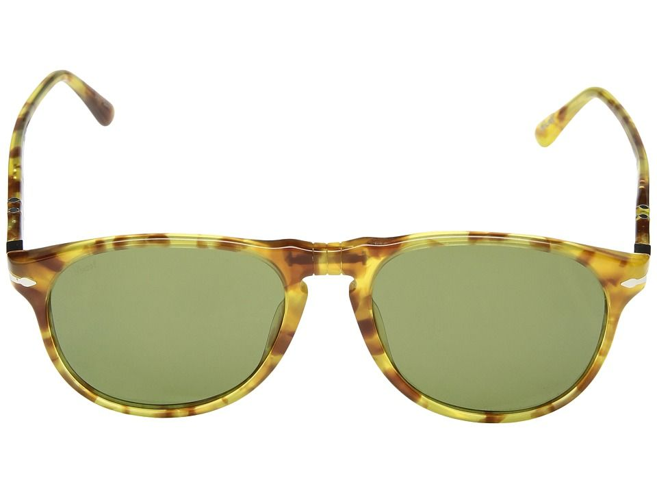 0804ef118a2bc Persol 0PO6649S Fashion Sunglasses Limited Edition Yellow Tortoise Green
