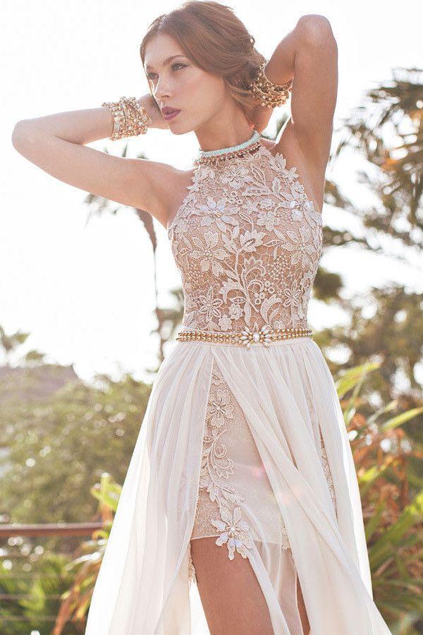 Boho Lace Wedding Dress Bohemian Wedding Boho Bridesmaids Dress ...