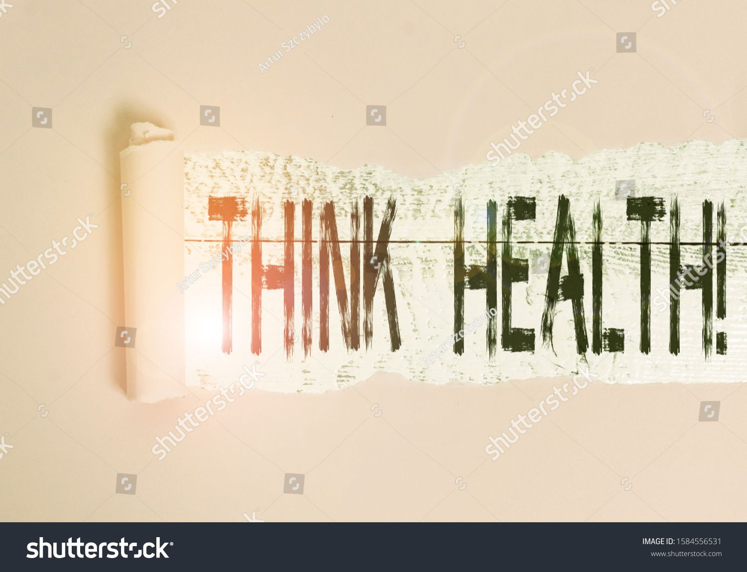 Handwriting text Think Health. Concept meaning state of ...