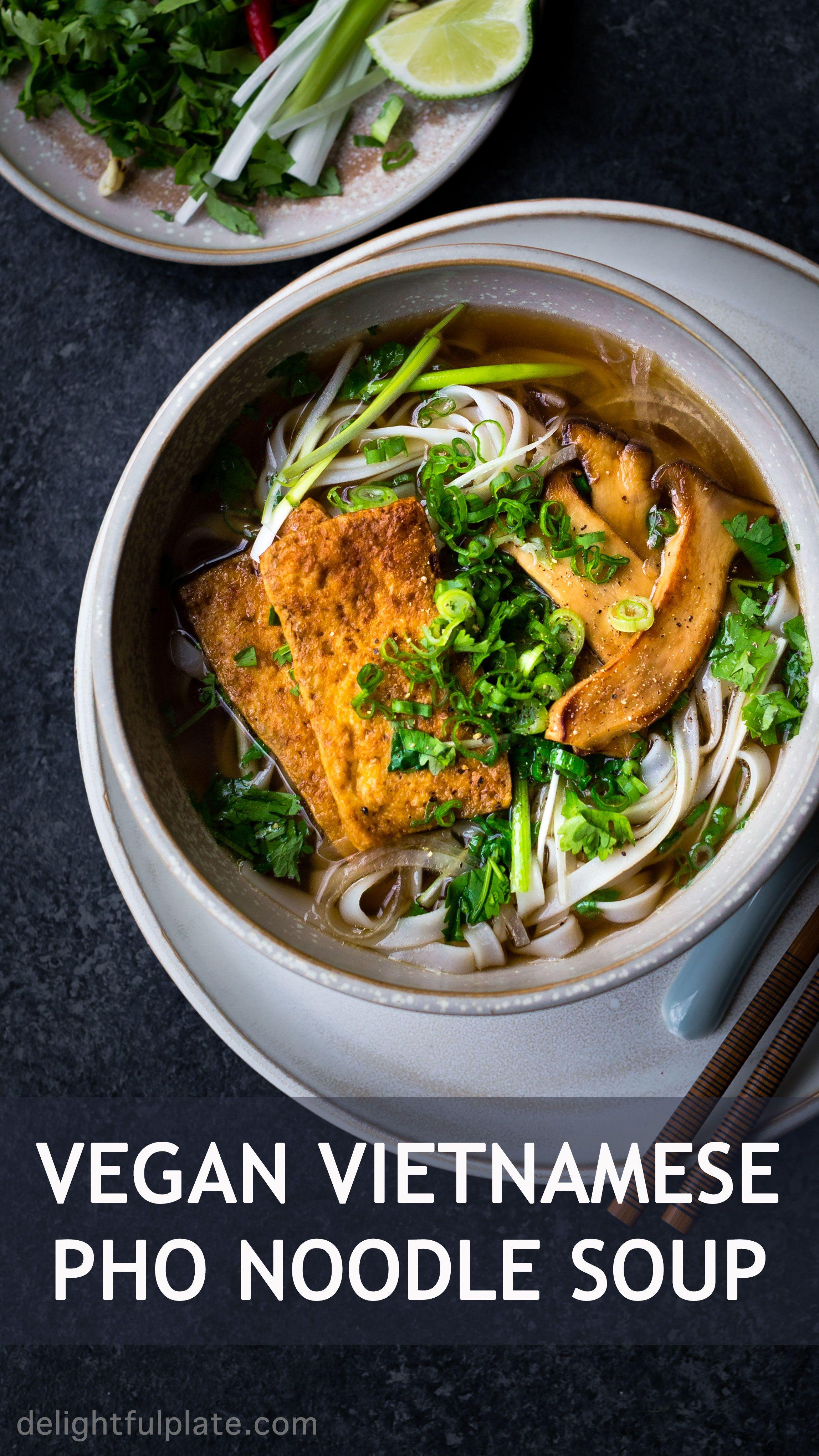 Vegan Pho Noodle Soup Pho Chay
