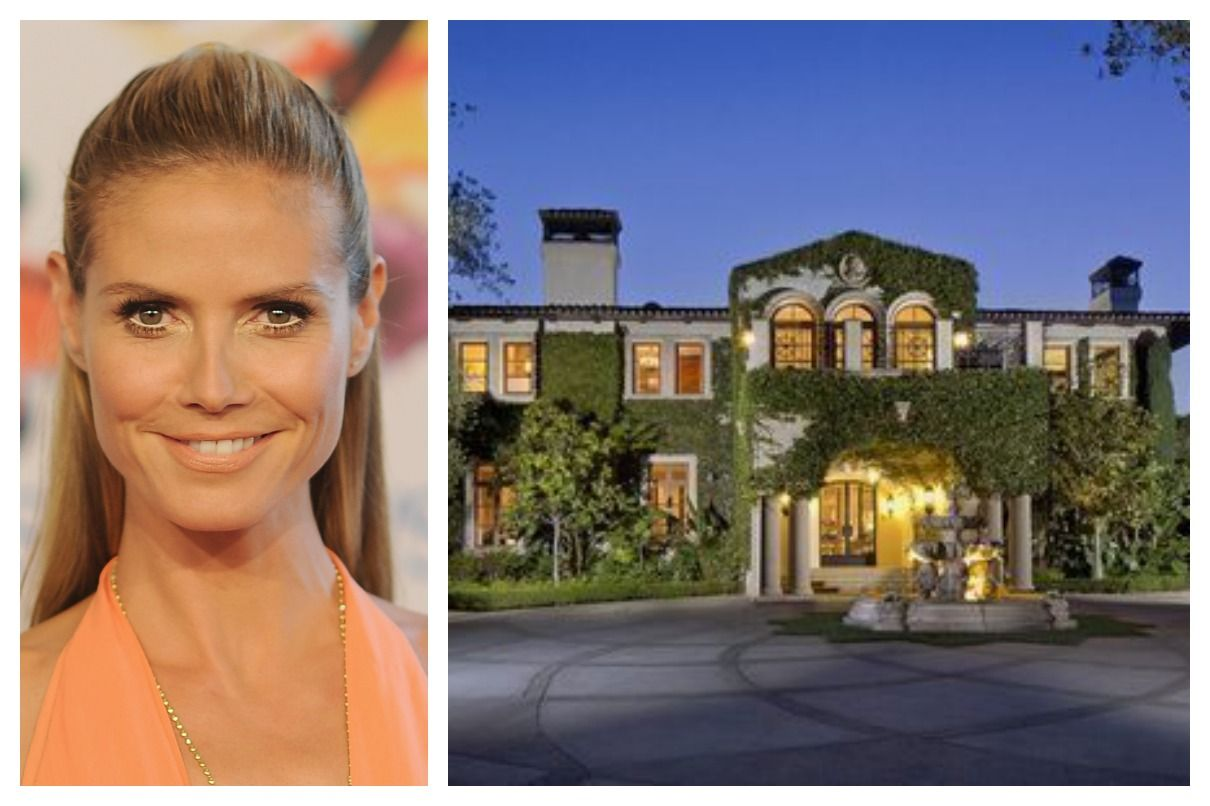 Heidi Klum Sells California Home For 24 Million Celebrity Houses Celebrity Mansions Celebrity Homes For Sale