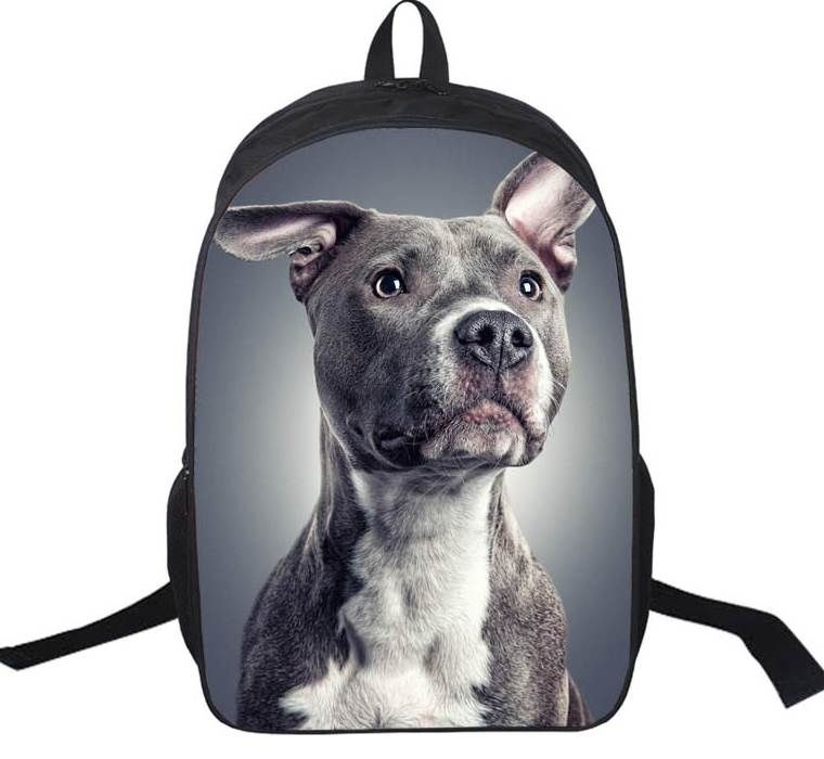 93a7ed161d6a Pitbull Dog Lover Daypack Bag Rottweiler Backpack For Teenager ...