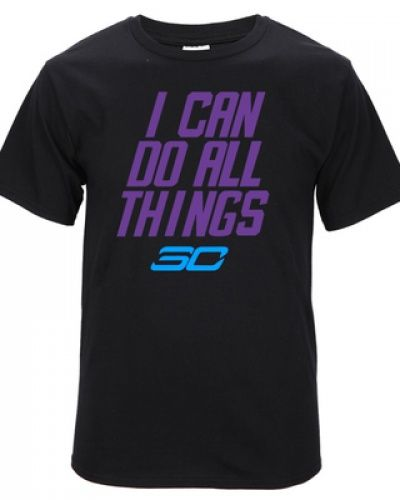 56adc6da196 NBA basketball Stephen Curry I can do all things t shirt golden state  warriors tee