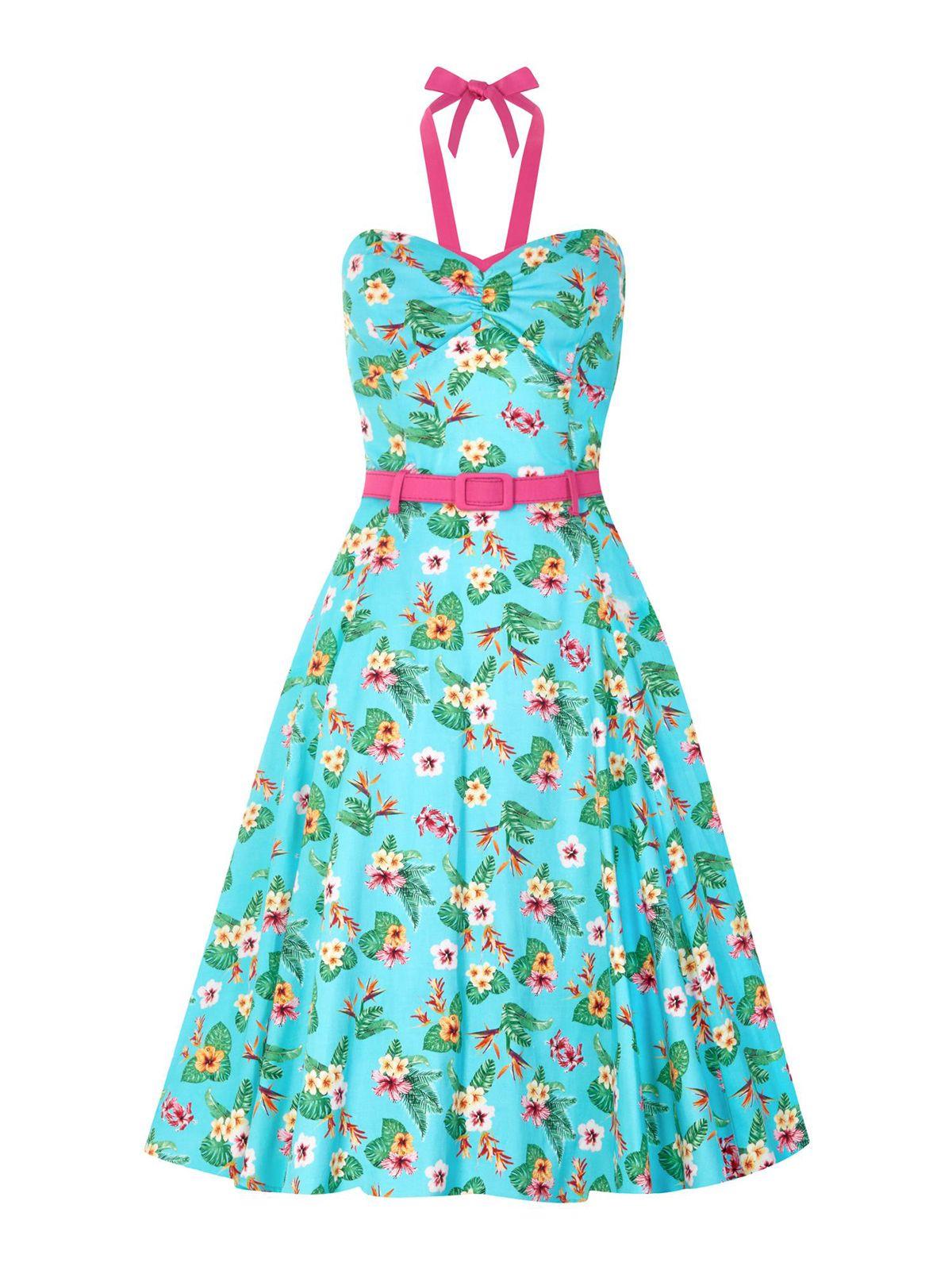 f0f13ff8f53055 Collectif GINGER Paradise HAWAIIAN Doll Vixen SWING Dress KLEID
