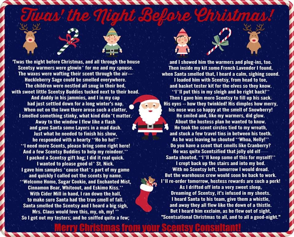 Scentsy T\'was the Night Before Christmas Poem ScentsbyKris.scentsy ...