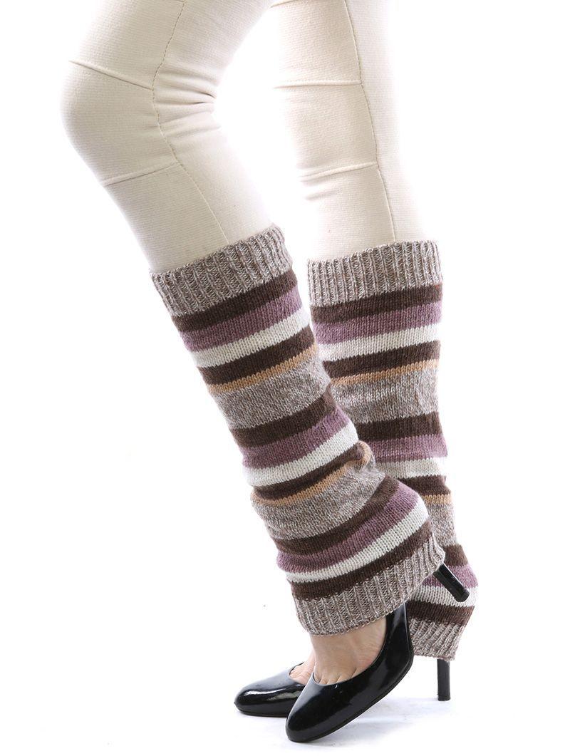 Stripe Knitted Leg Warmer