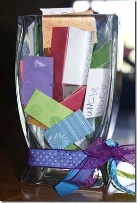 Help your kids make a prayer jar with names of people they want to pray for regularly.  Then at mealtimes, pick out 1 or 2 slips of paper and pray for that person. dops063