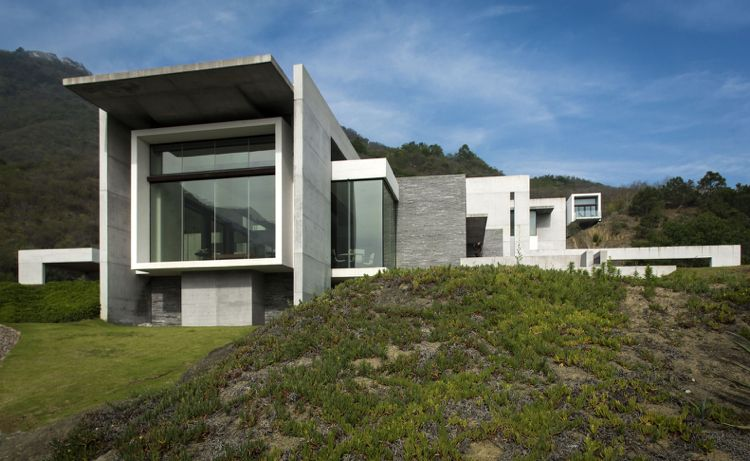 Bauhaus Stil Haus Aus Granit Und Beton Moderne Architektur In
