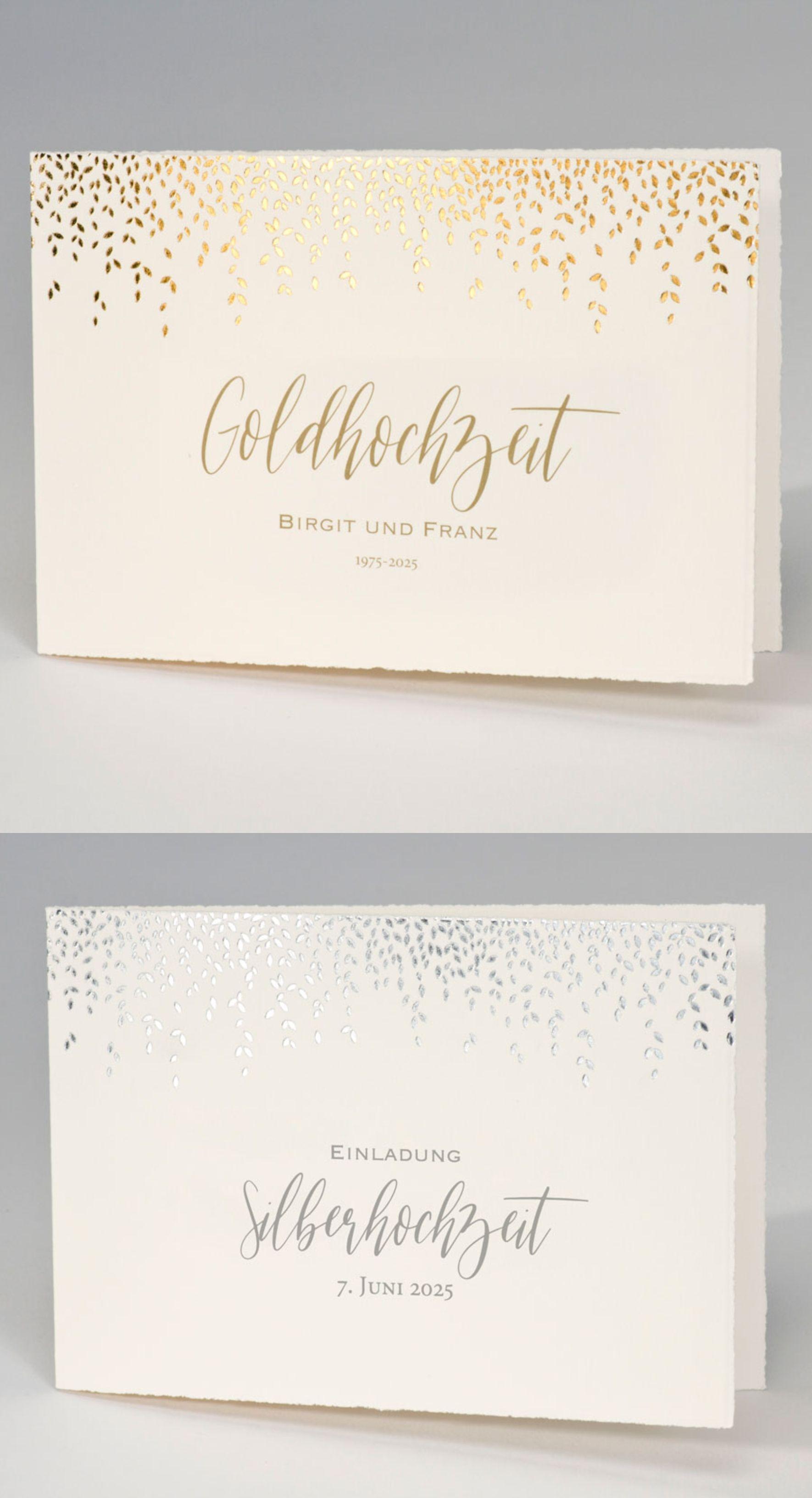 wunderschöne einladungskarten zur #goldhochzeit oder #