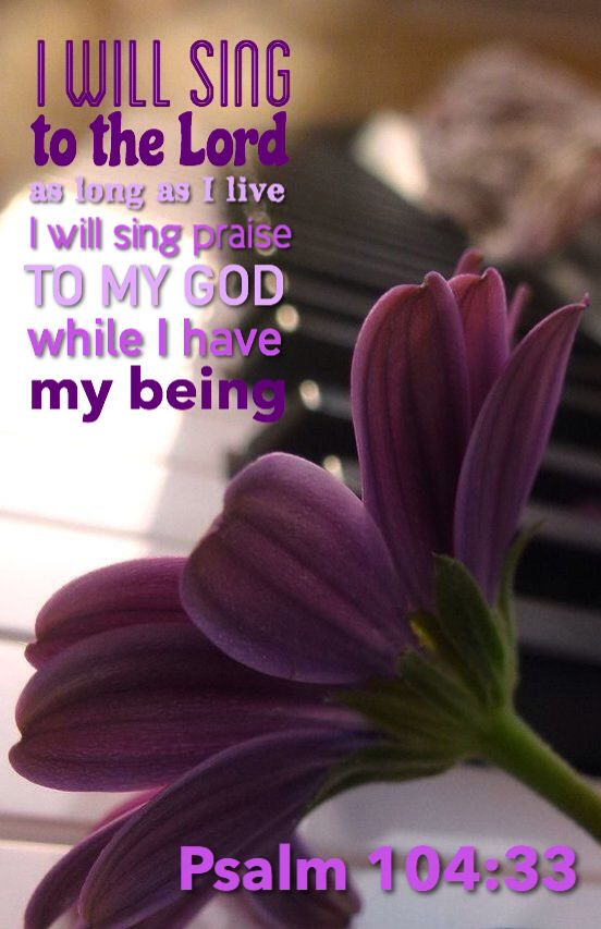 Psalm 10433 Kjv I Will Sing Unto The Lord As Long As I Live I