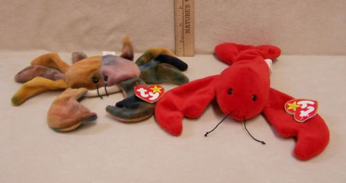 79c7b977e16 Ty Beanie Babies 1993 Red Lobster Named