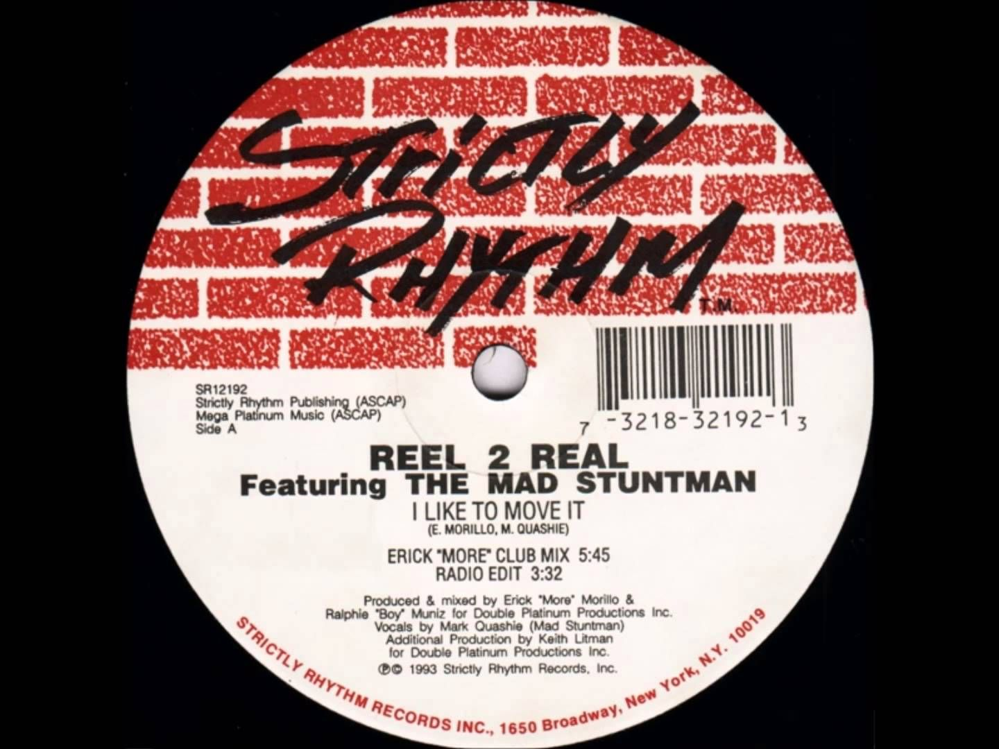Reel 2 Real Feat The Mad Stuntman I Like To Move It Erick More Clu Club Music Vinyl Record Store Swing Jazz