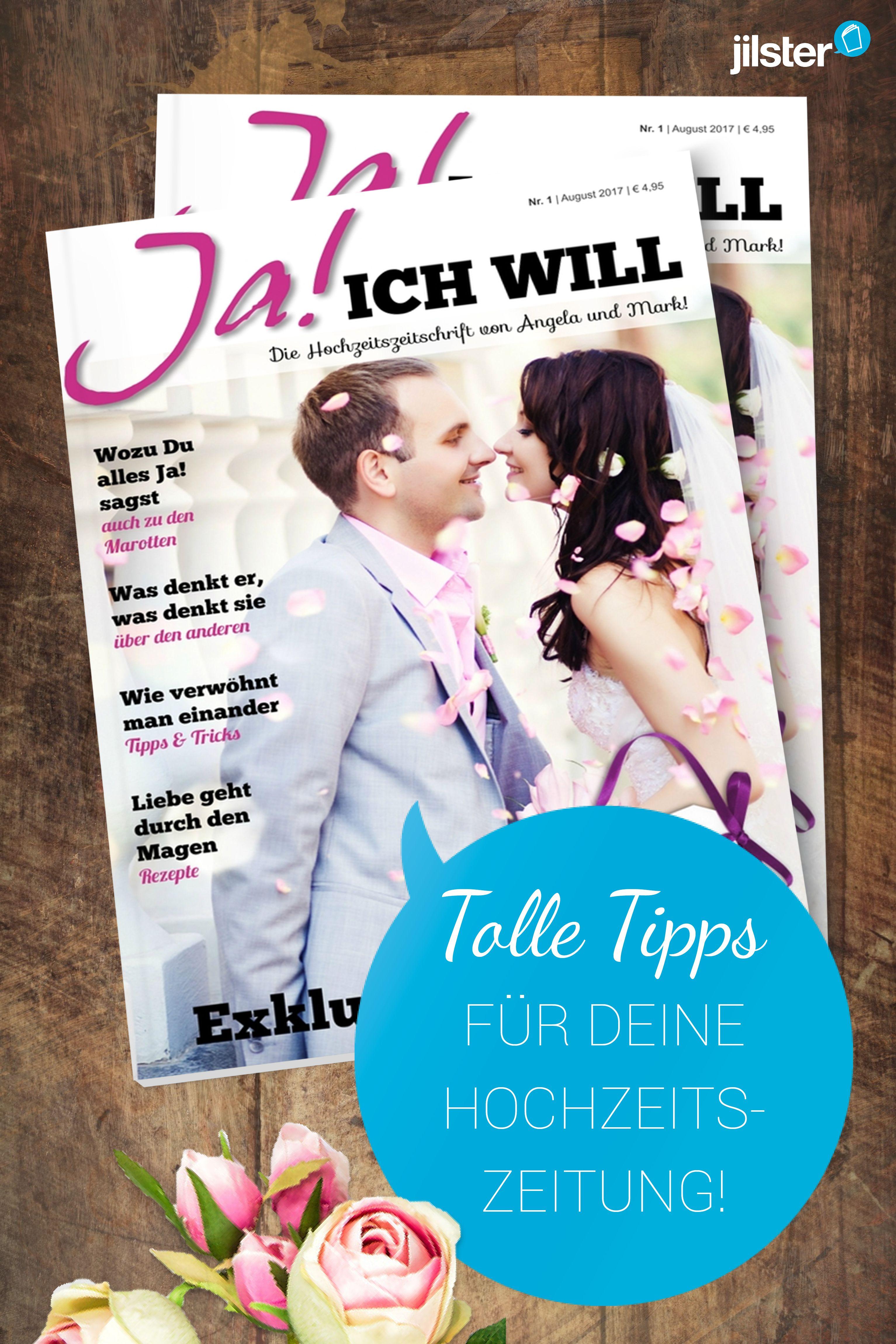 Tolle Tipps für Rubriken in der Hochzeitszeitung - Jilster Blog ...