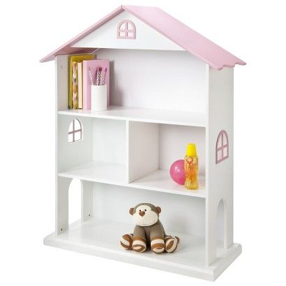Dollhouse Kids Bookcase White Pink Foremost