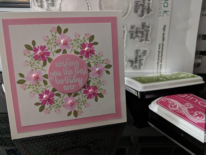 pinkaren lambert on art cards wreaths  birthday cards