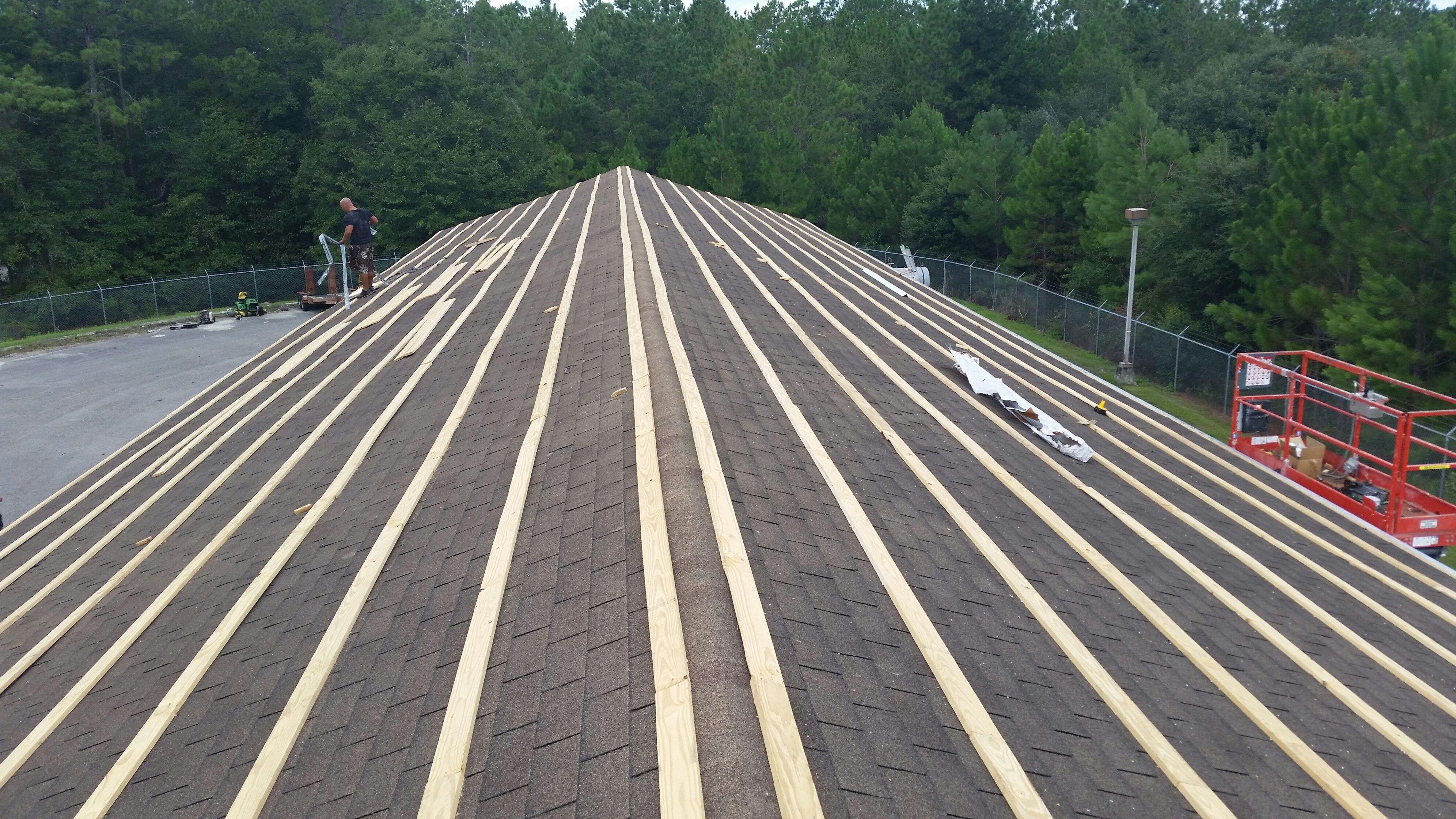 Metal Roof Purlins Over Shingles Metal Roof Installation Metal