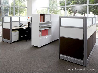 Office cubicles office furniture segment workstations for Cubicle privacy ideas