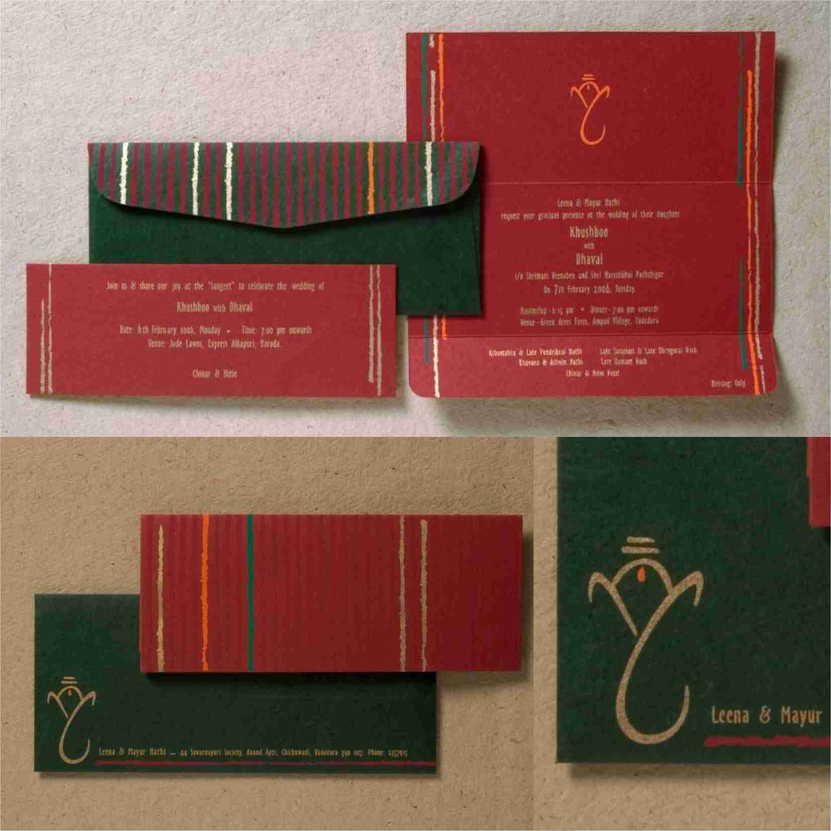 Traditional lignins printed on green and deep red fine papers ...
