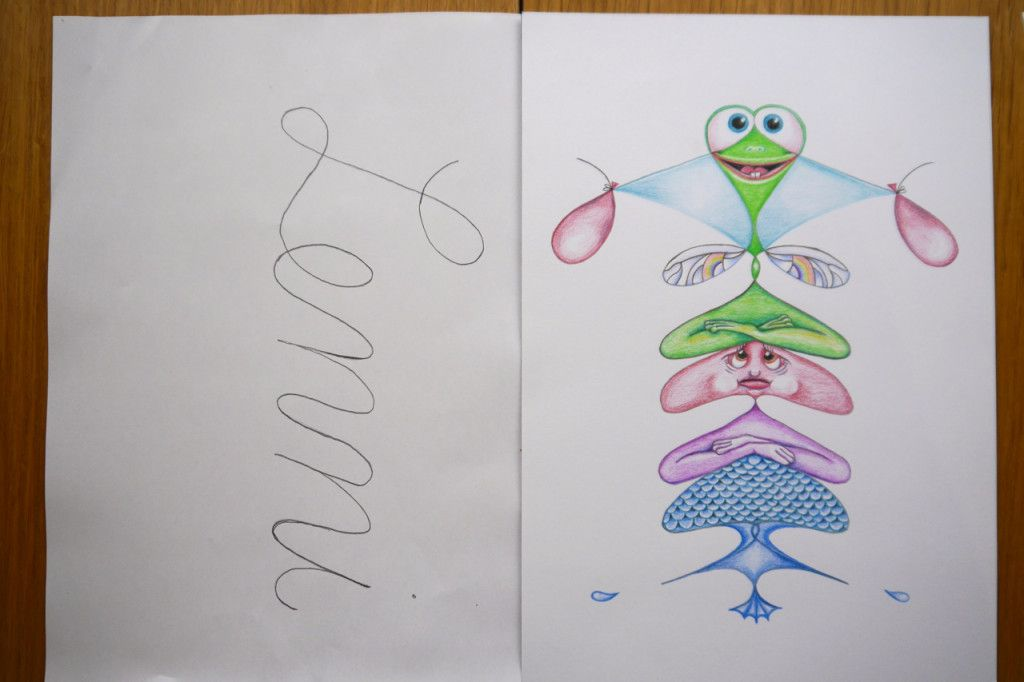 Kunstprojekt: Namensmonster anke-art | Schule | Pinterest
