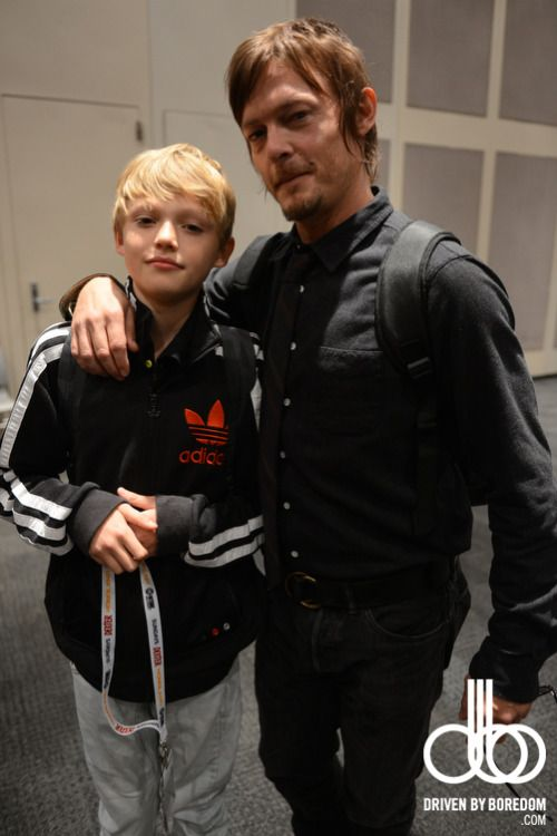 celeb-a-day:  Another New York Comic Con update… The Walking Dead's Norman Reedus and his son.