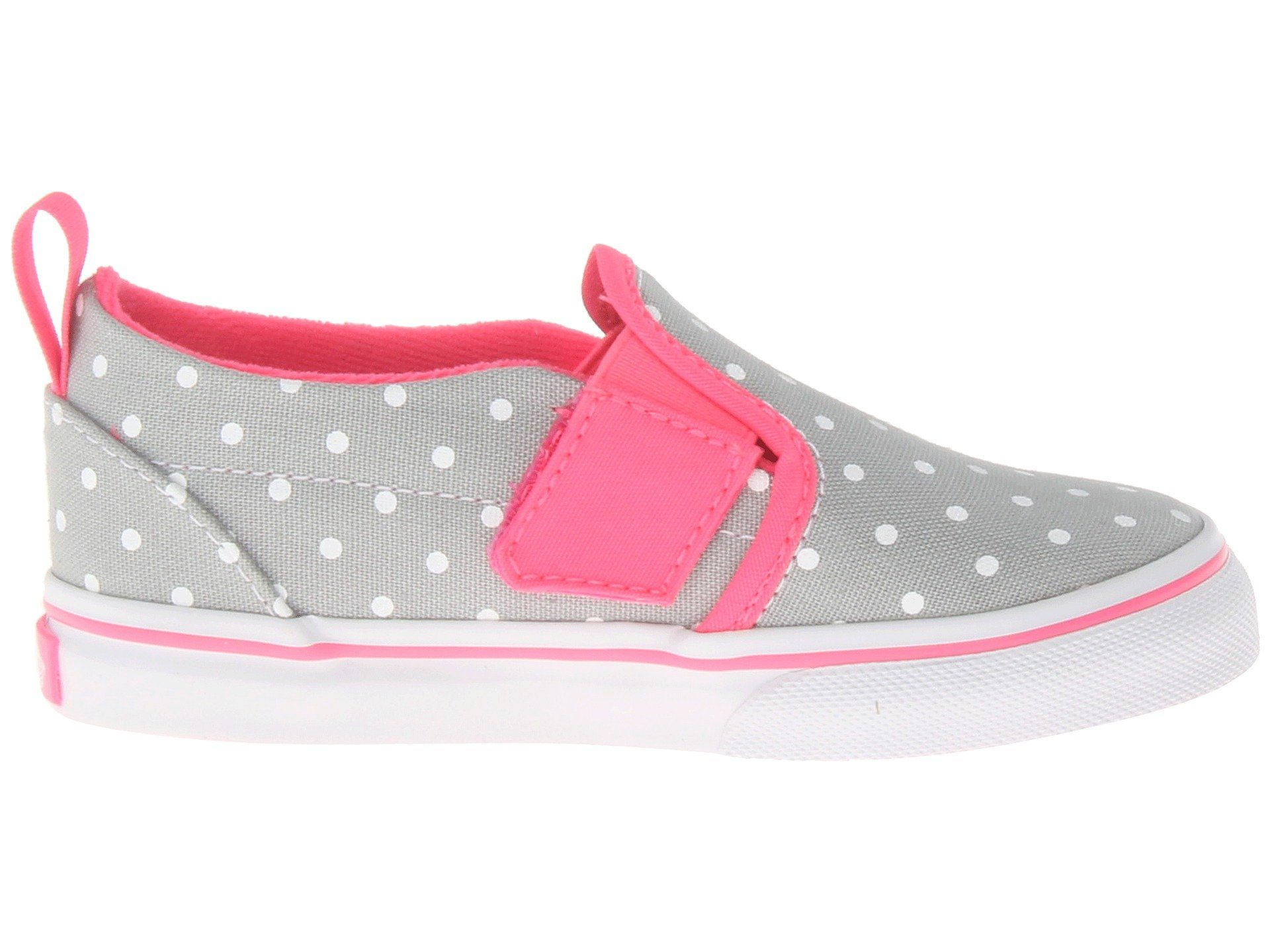 5bc5d2d9eb2e5 Amazon.com: Vans Baby Girls' Slip-On V (Toddler) - High Rise/Neon ...