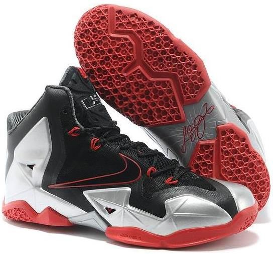 250e834fbcb1 Lebron 11 Womens Grey Red Black