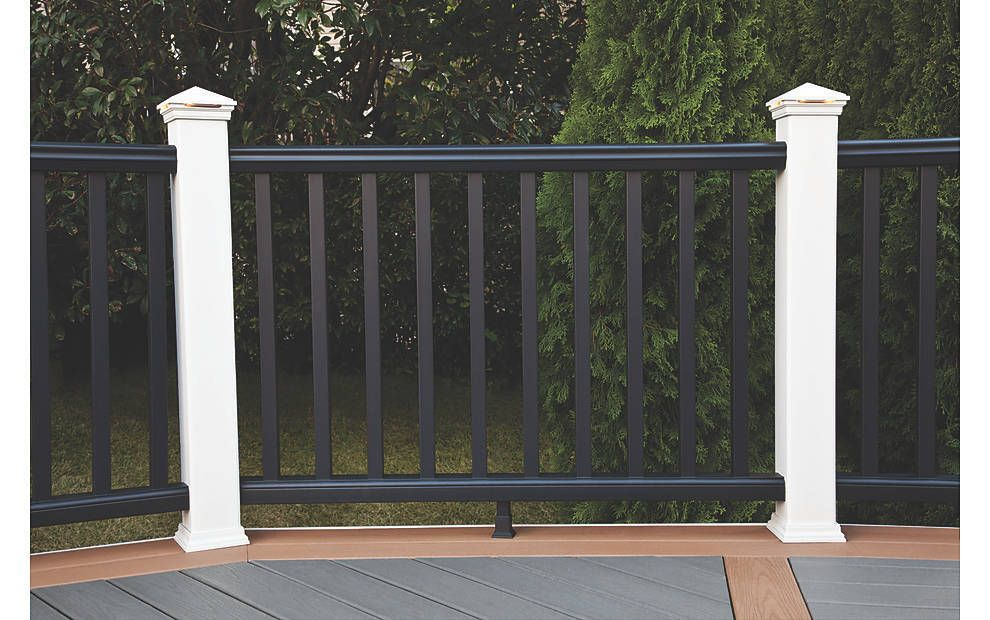 A Wrap Around Deck Makeover Featuring Enhance® In Clam Shell   Trex Enhance Stair Railing   Trex Deck Railing Installation   Clam Shell   Lighting   Installation Instructions   Composite Decking