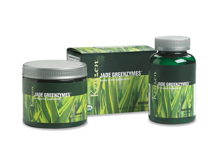 JadeGreenZymes -- young barley grass powder, full of amino acids, enzymes and all of the building blocks your body needs to sustain itself properly