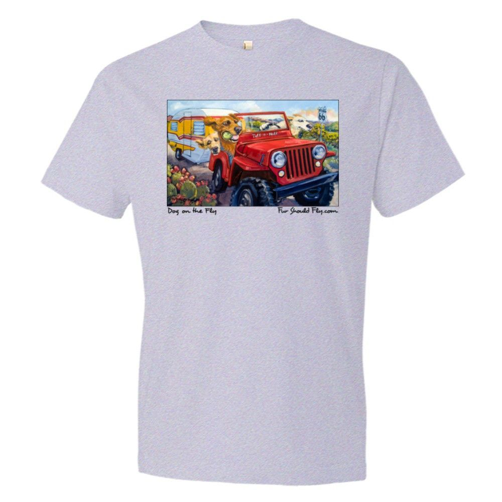 Dog On The Fly: Mens Fine Cotton Jersey T-Shirt