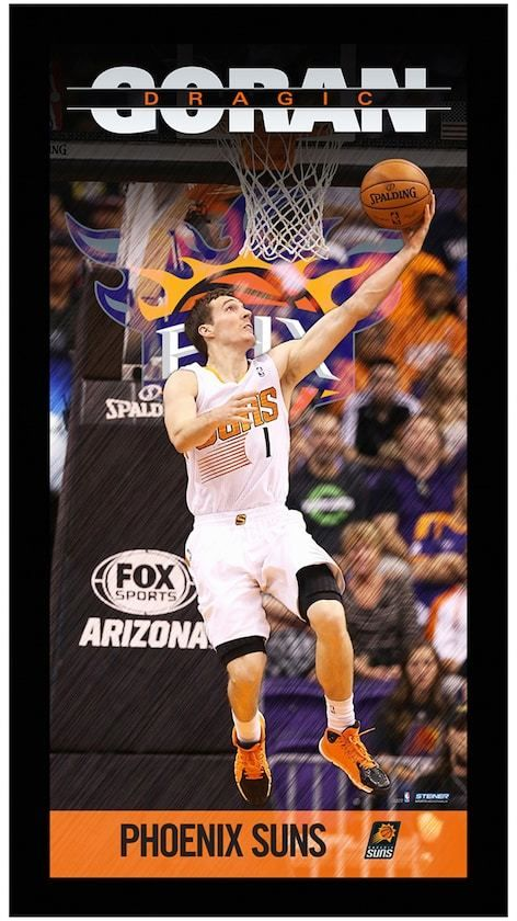 63 Steiner Sports Nba Phoenix Suns Goran Dragic 10 X 20 Player Profile Wall Art Show Some Love For Your Favorite Play Phoenix Suns Photo Frame Photo Art