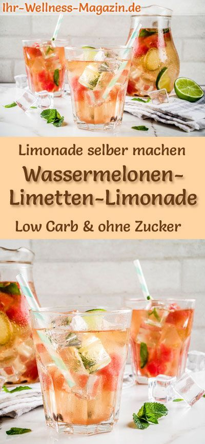 Photo of Make watermelon-lime lemonade yourself – recipe without sugar & low carb