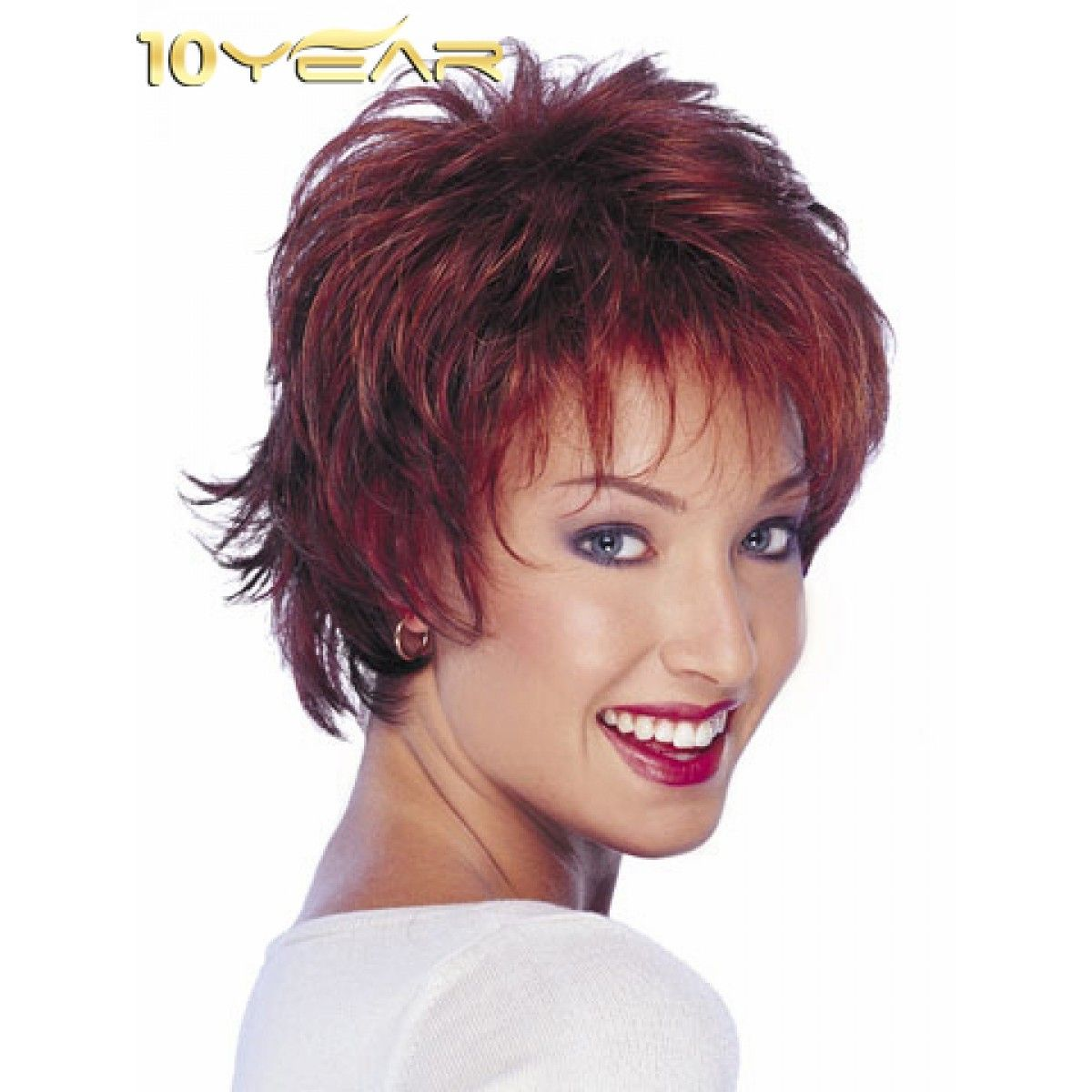 10year Women Short Straight Style Synthetic Hair Extensions Wigs