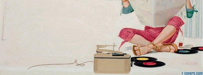 vintage vinyl woman facebook cover | Vintage facebook ...