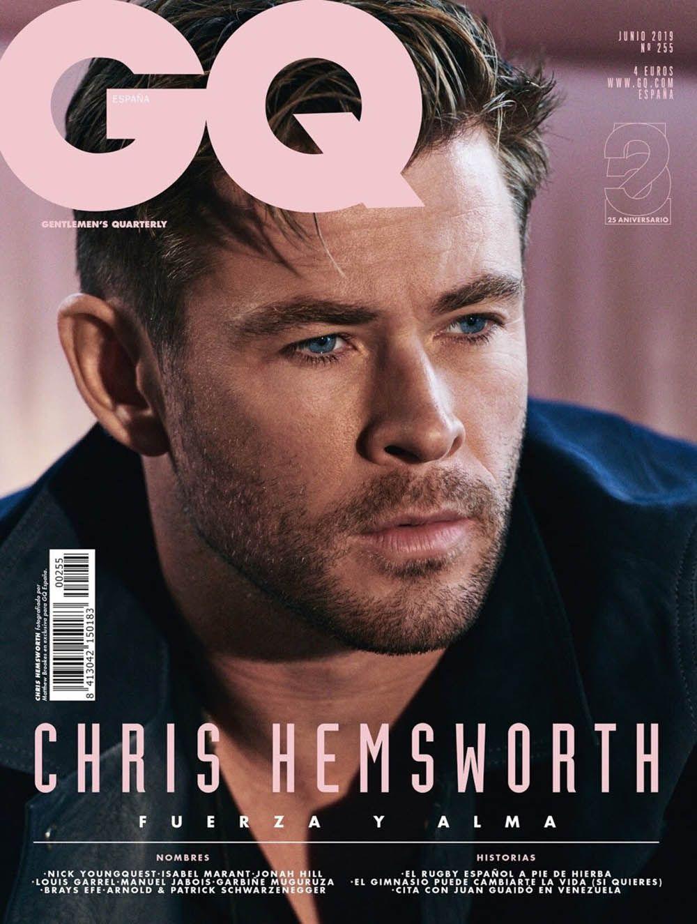 Chris Hemsworth covers GQ Spain June 2019 by Matthew