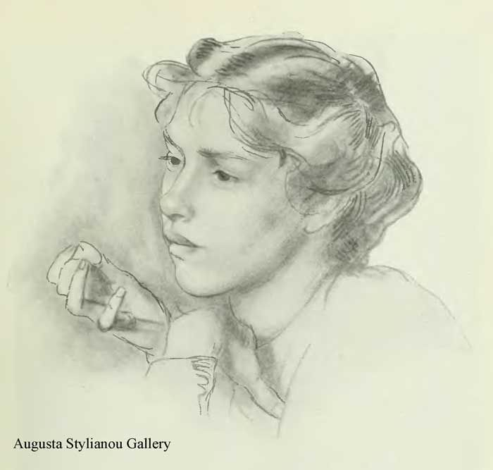 Woman S Head Henry Tonks Art With Pencil English Artists Art Pencil Drawings